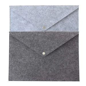Other - Document Folders (2 qty) Felt in Light & DarGray